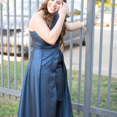 Blue, one-shoulder homecoming dress | Modest homecoming dresses | prom dress | formal dress