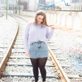 Winter Date Night Outfit | Cletora | Date outfit | Denim Skirt outfit
