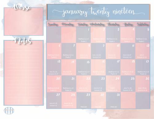 Bible Reading Plan Monthly Calendar-02